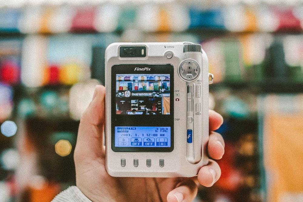 white digital camera