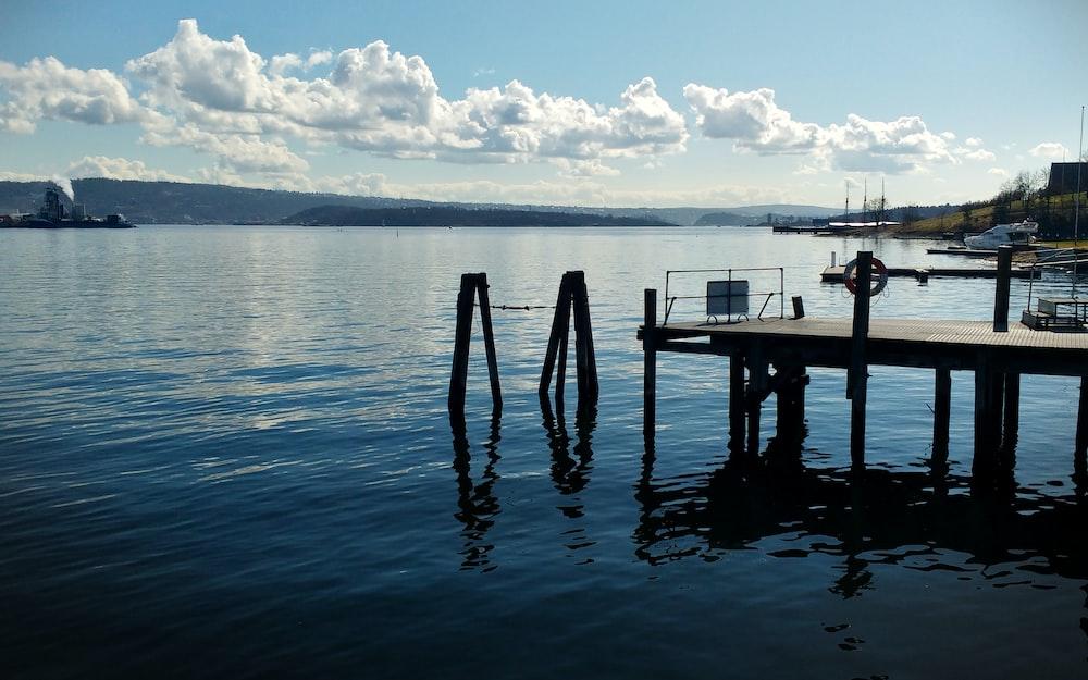 empty wooden dock