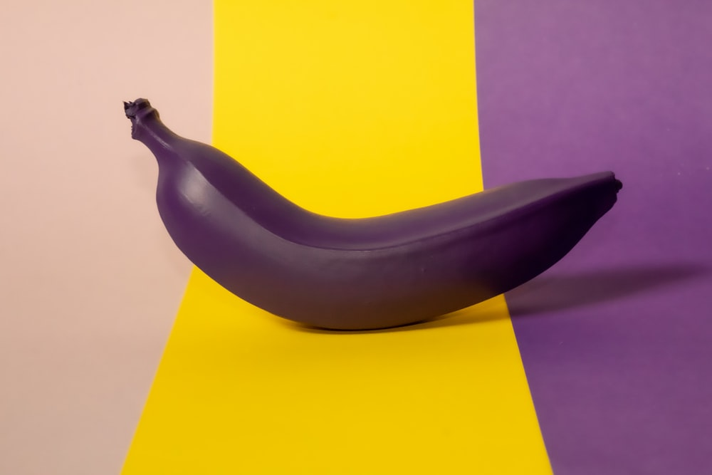 one purple banana fruit