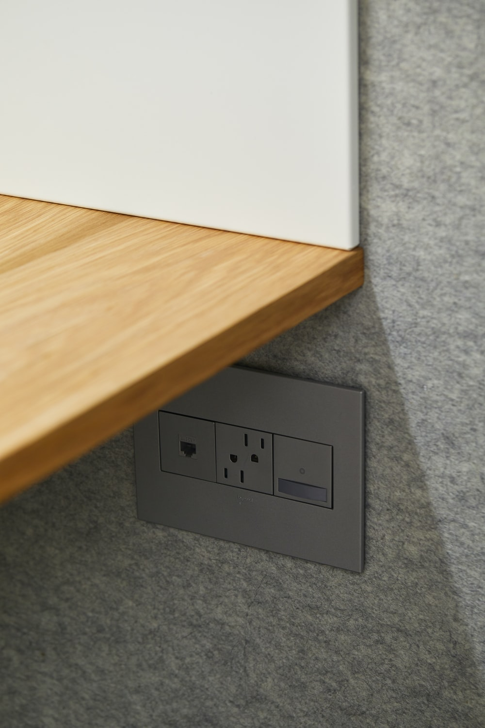 white wall electric socket