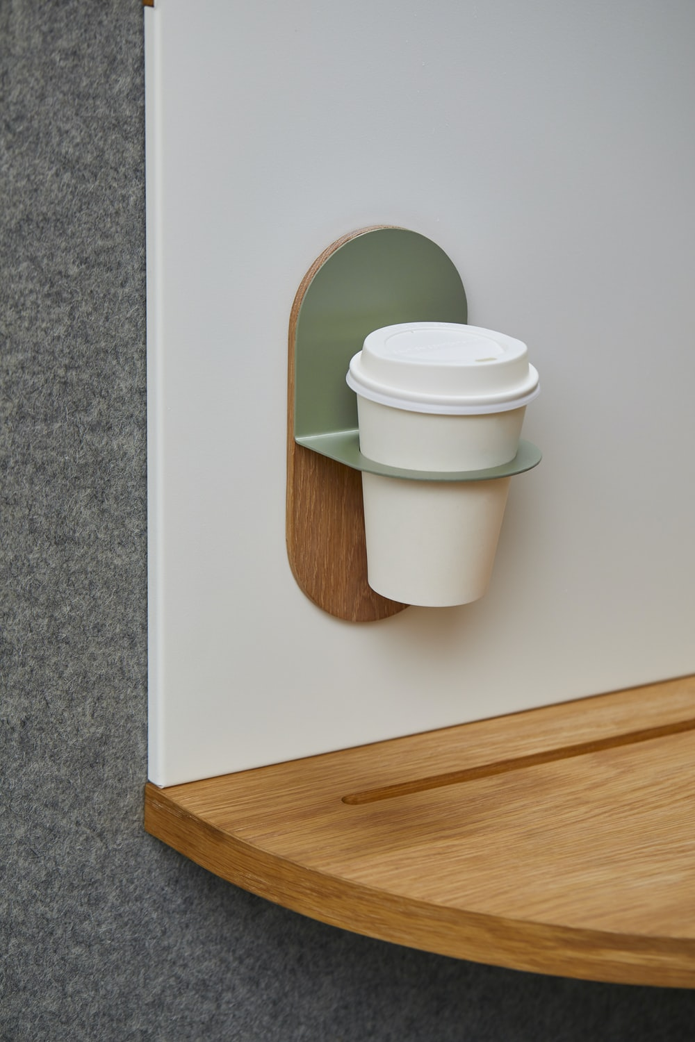 white disposable cup