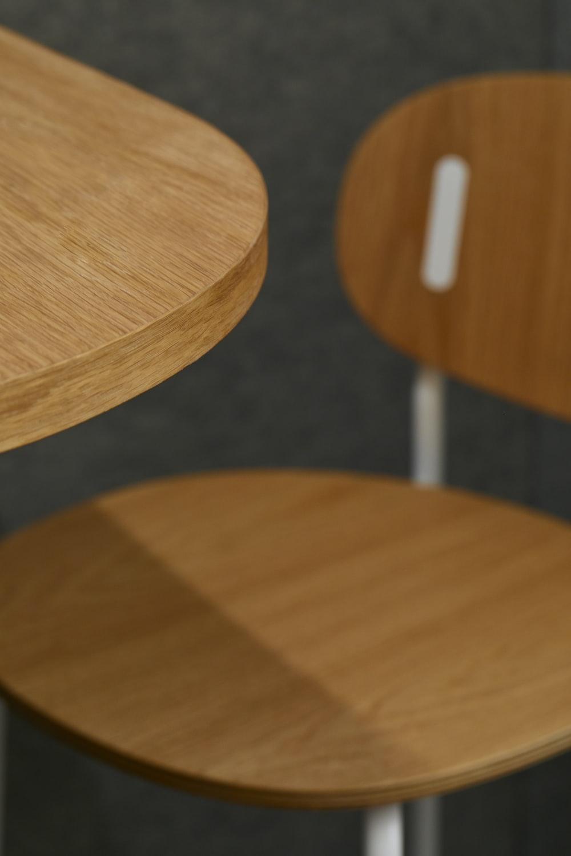 brown wooden pedestal table