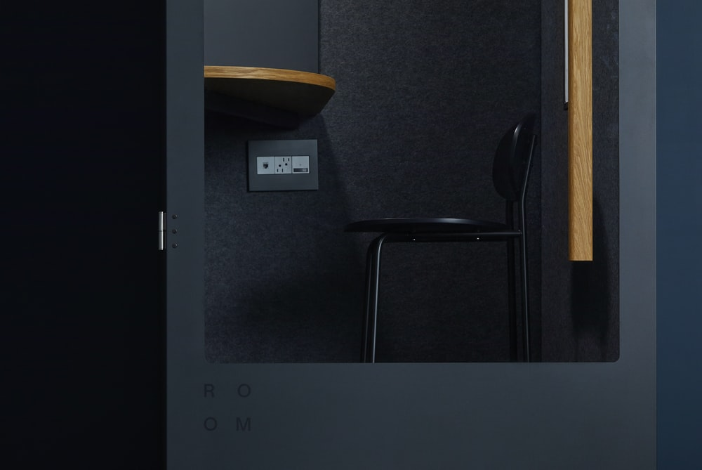 black chair inside room