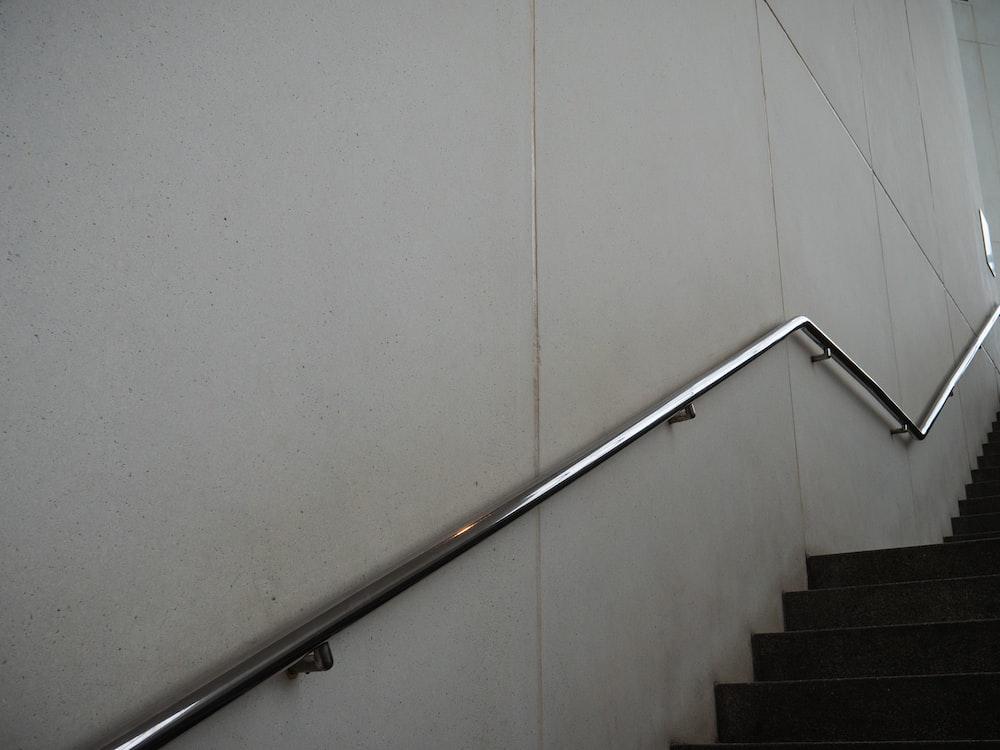 silver metal railings