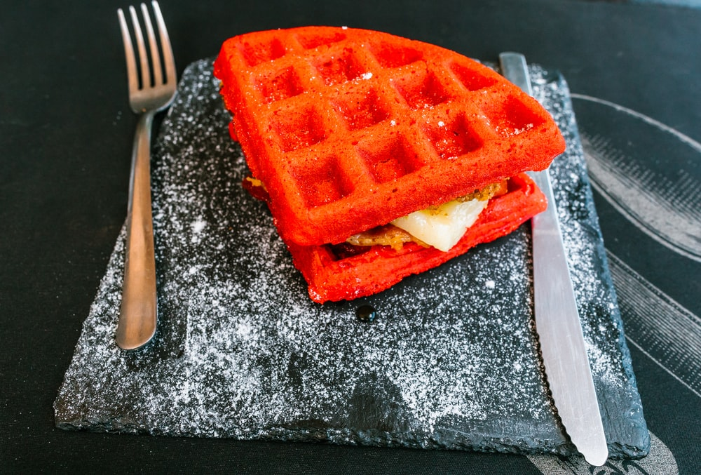 red waffles