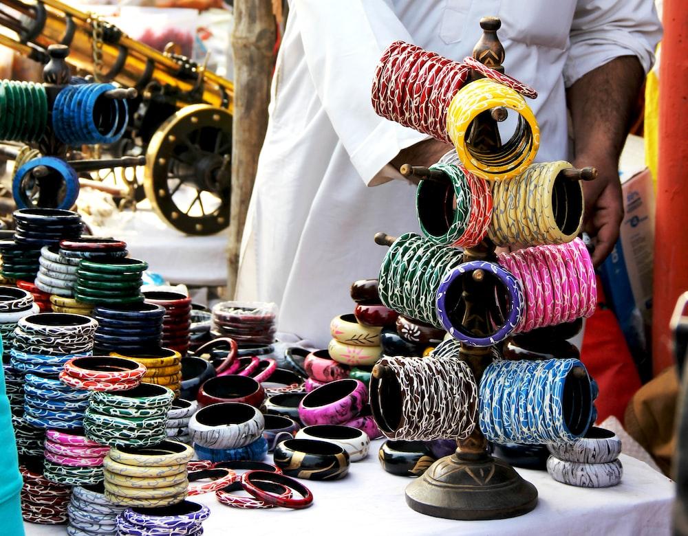 assorted-color bracelet