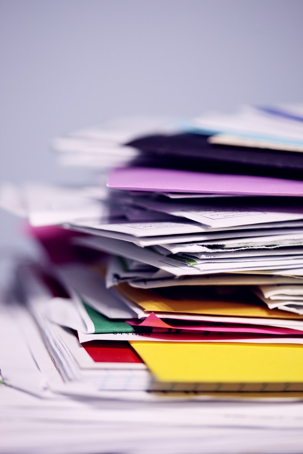 pile of printing papers