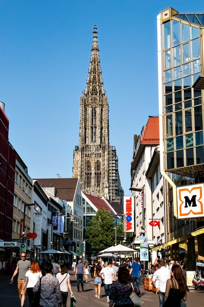 Ulmer Münster. It's the main touristic place in Ulm - Germany. It's the tallest church in the world and its main structure is 161m high.