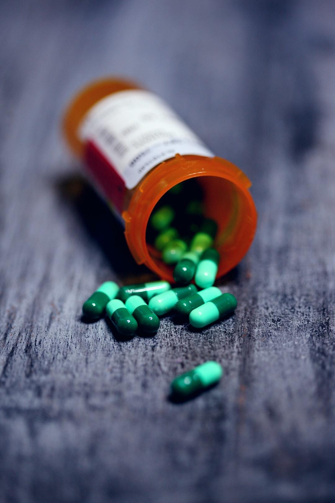 Bottle of prescription medication.