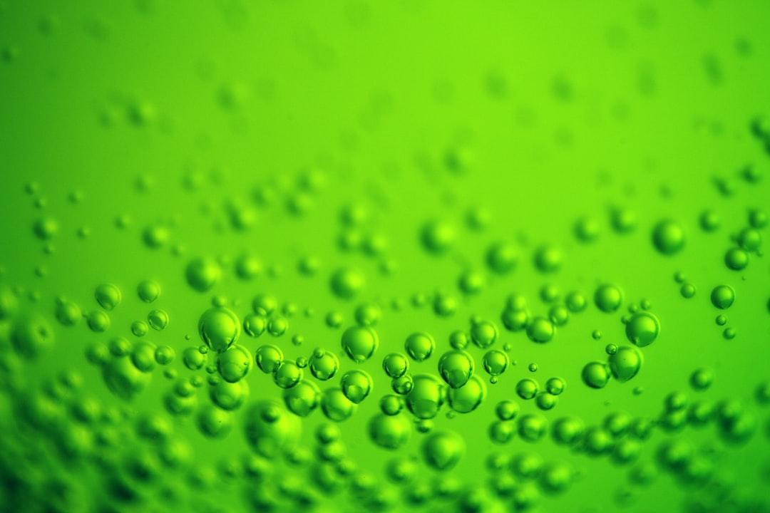 Lime green bubbles wallpaper.