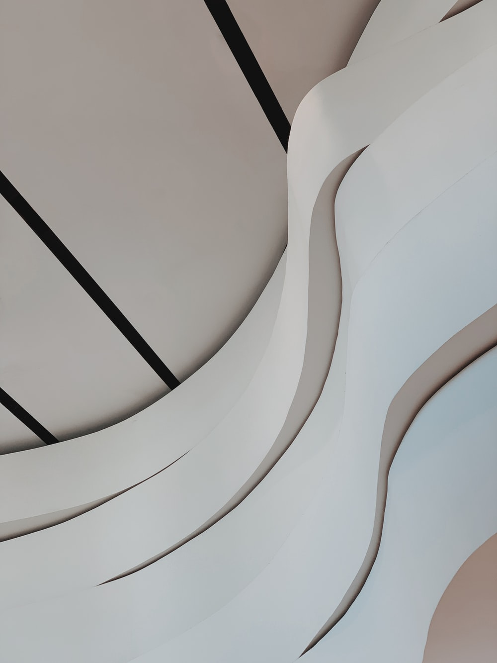 white and beige ceiling