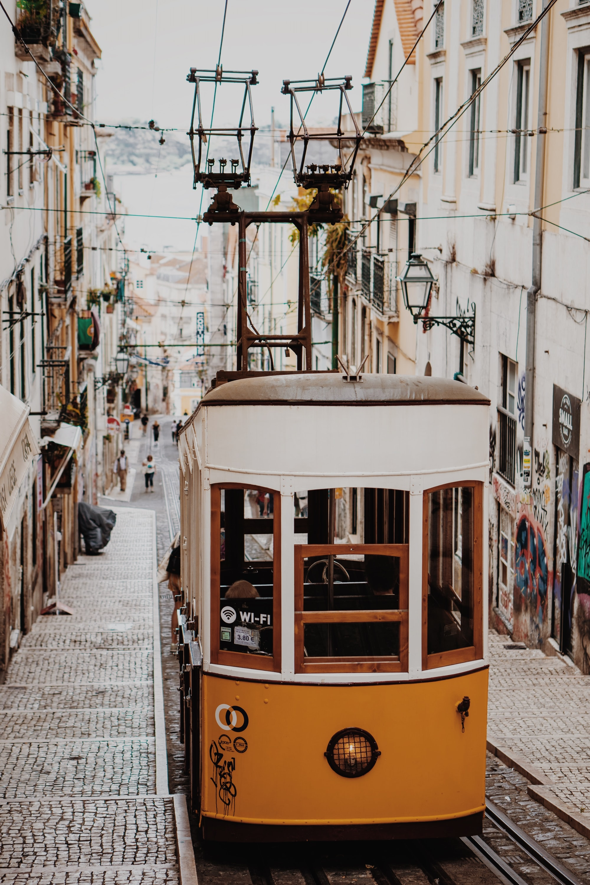 Finally we got to visit lisbon! I took my Sony Alpha 6500 with a 50mm to get this shots. The old Carros eléctricos are awesome to photograph because of their vintage wooden look. Also steep hills give a lot of deepness.