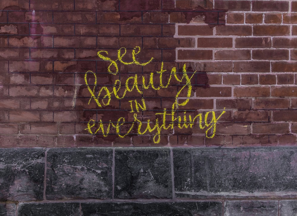 see beauty in everything painted on wall
