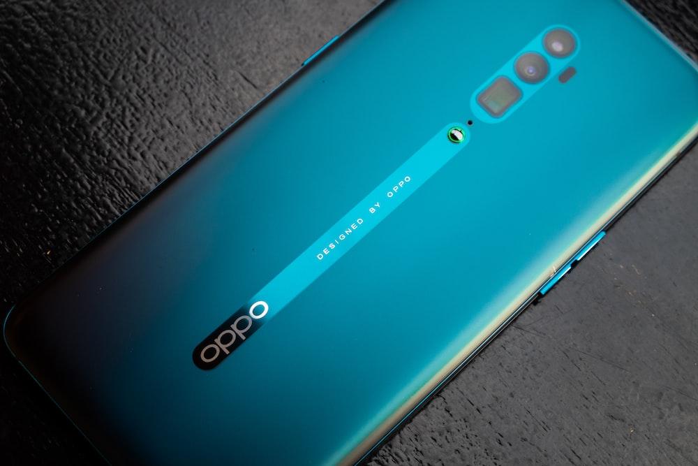 green Oppo smartphone
