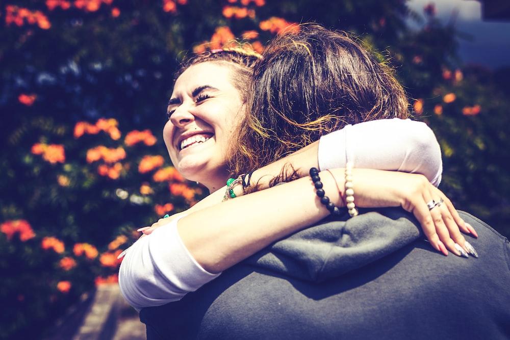 couple hug each other
