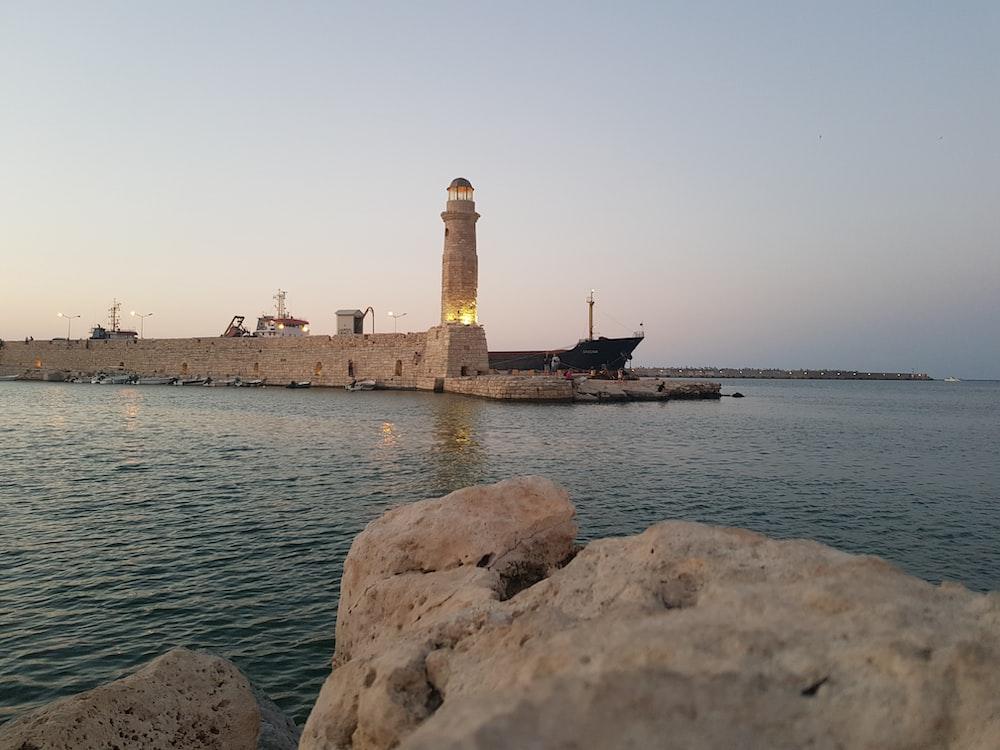 beige lighthouse