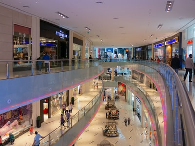 top view mall interior photo shop teams background