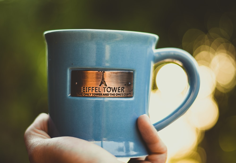 blue Eiffel Tower mug
