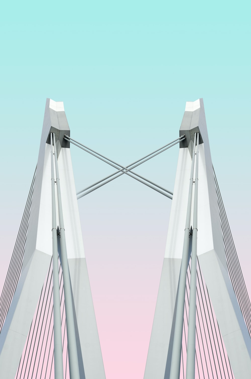 white metal stand illustration