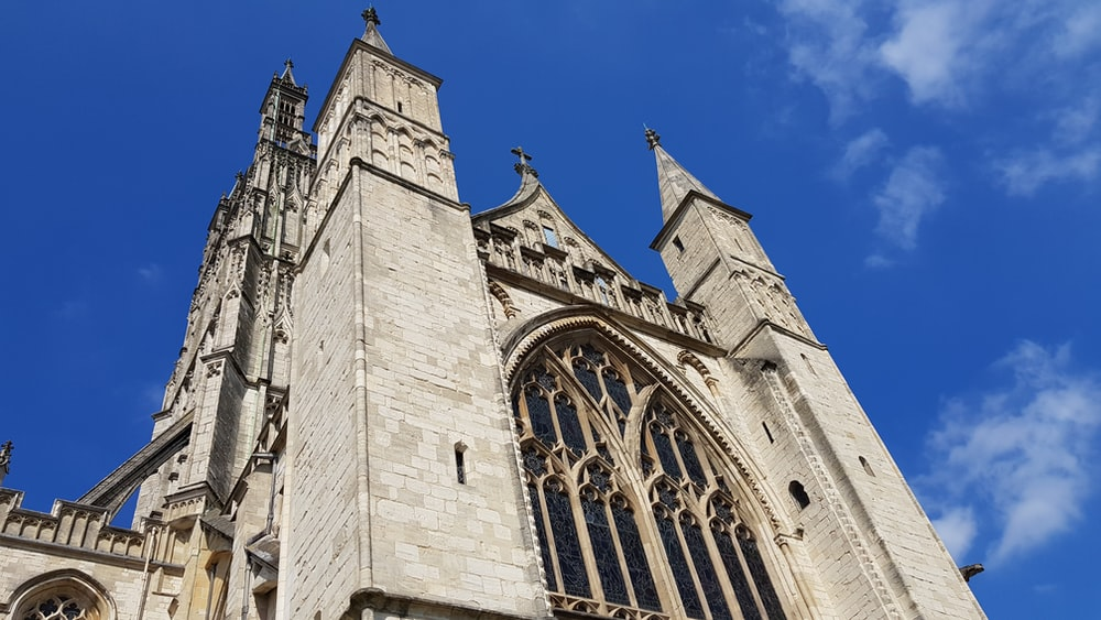 low angle photography of cathedral view during daytime