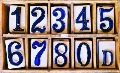 number blocks number zoom background