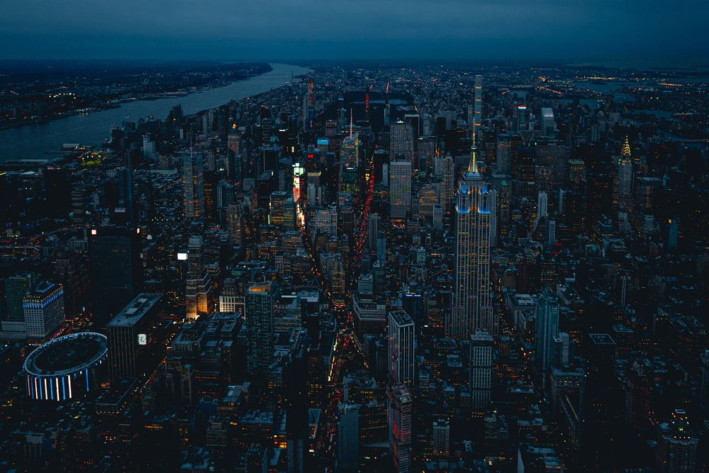 New York City during night