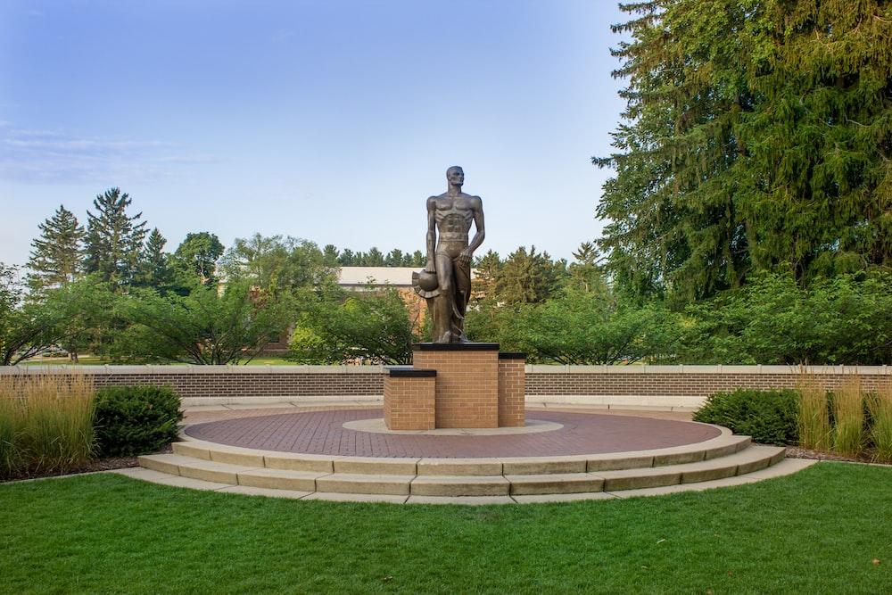 man standing statue