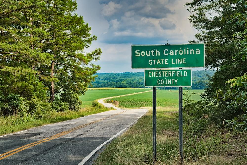 South Caroline State Line street sign