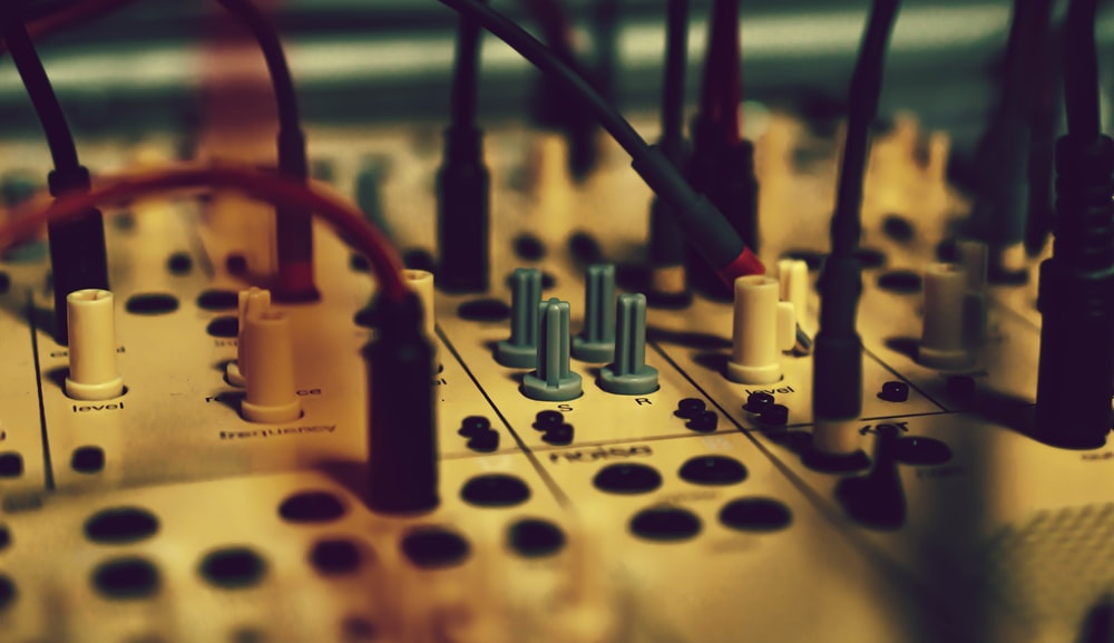 white mixing console