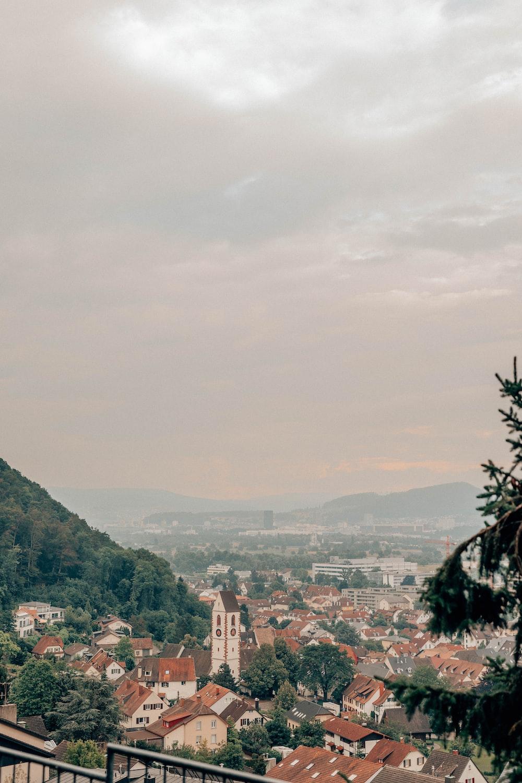 city near trees