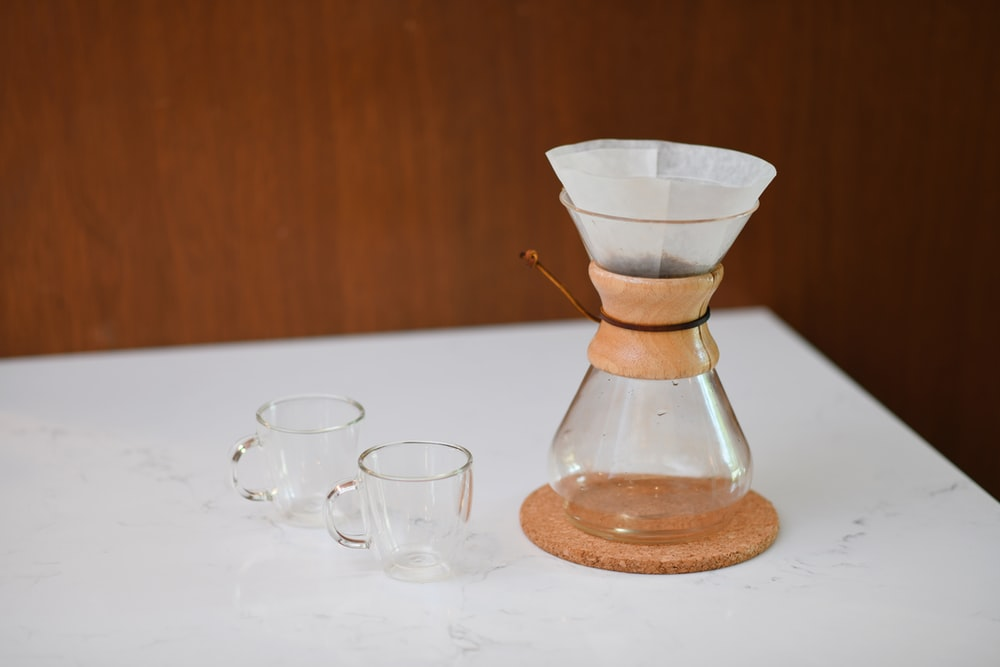clear glass coffee container