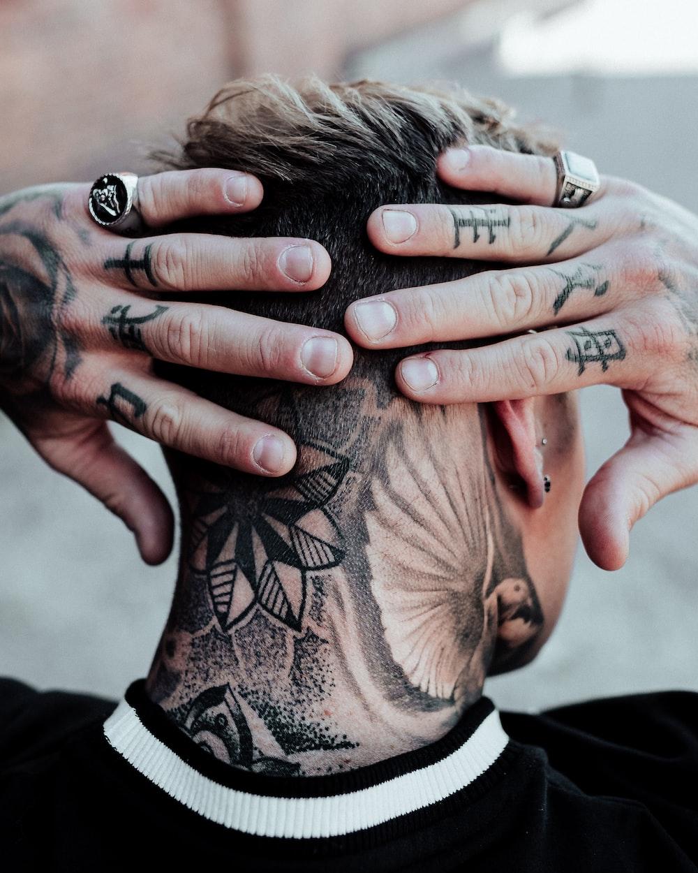 black floral tattoo