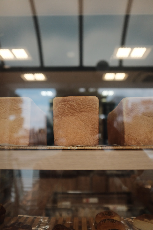 loft breads on display rack