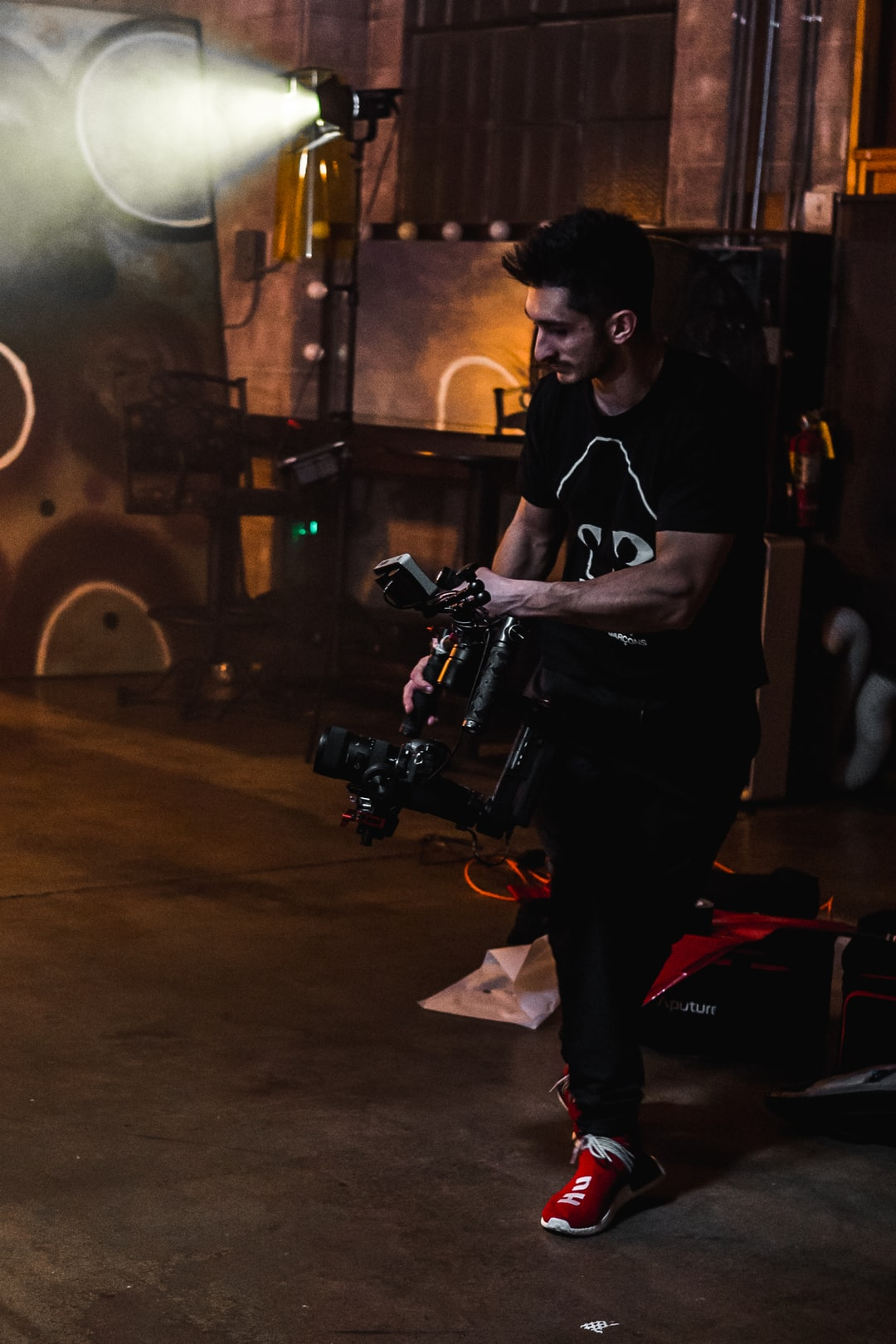 Videographer RoyalZProduction on a music video set collab with Mario Visions in Los Angeles, California   IG: @VisualsByRoyalZ