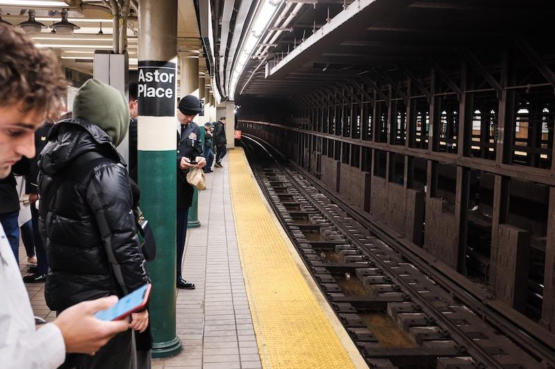 people on train station photo