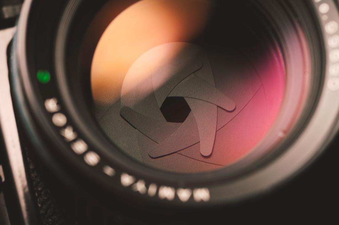 Mamiya lens iris close up