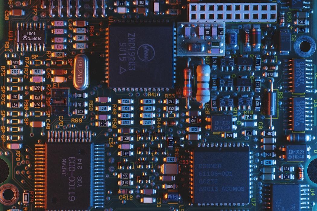 Blue Circuit Board von Umberto