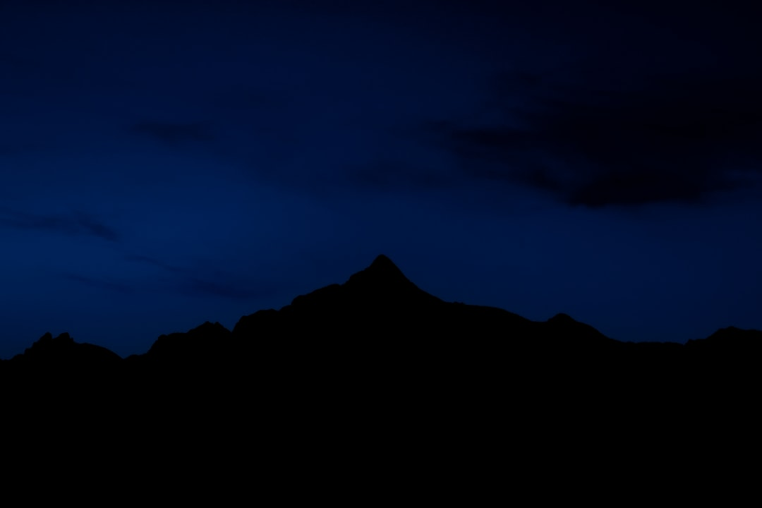 Blue hour over a Swiss mountain range