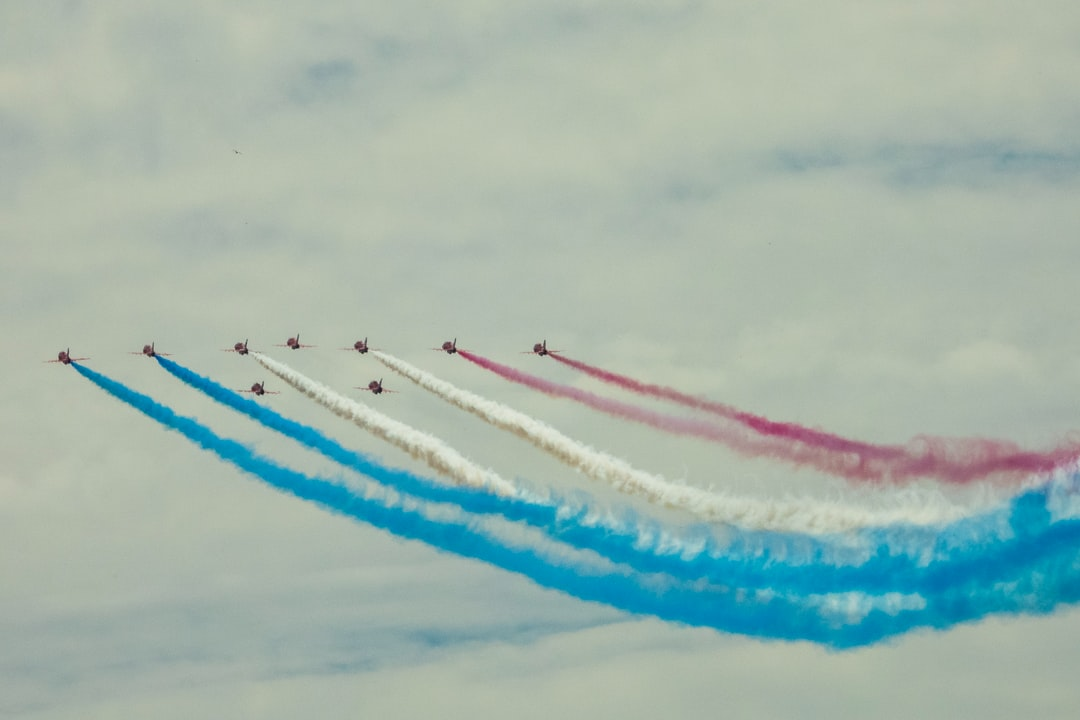 The world famous RAF Red Arrows Display Team