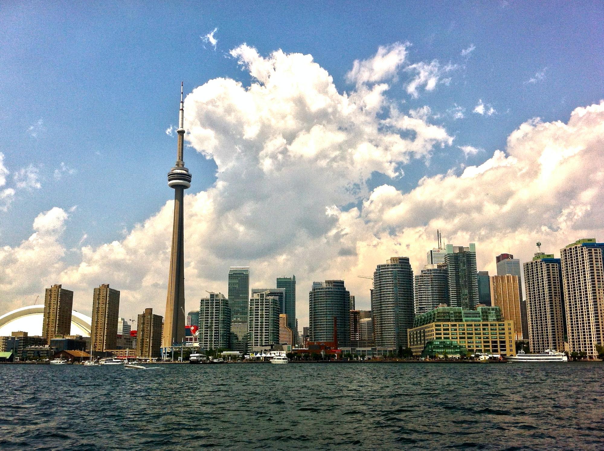 Toronto skyline from harbour