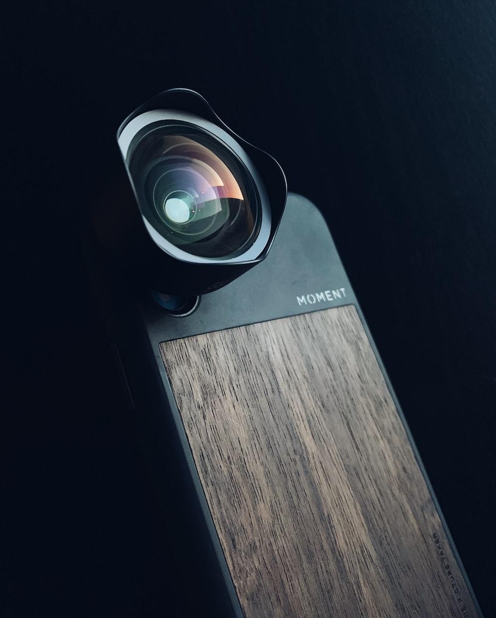 black security camera
