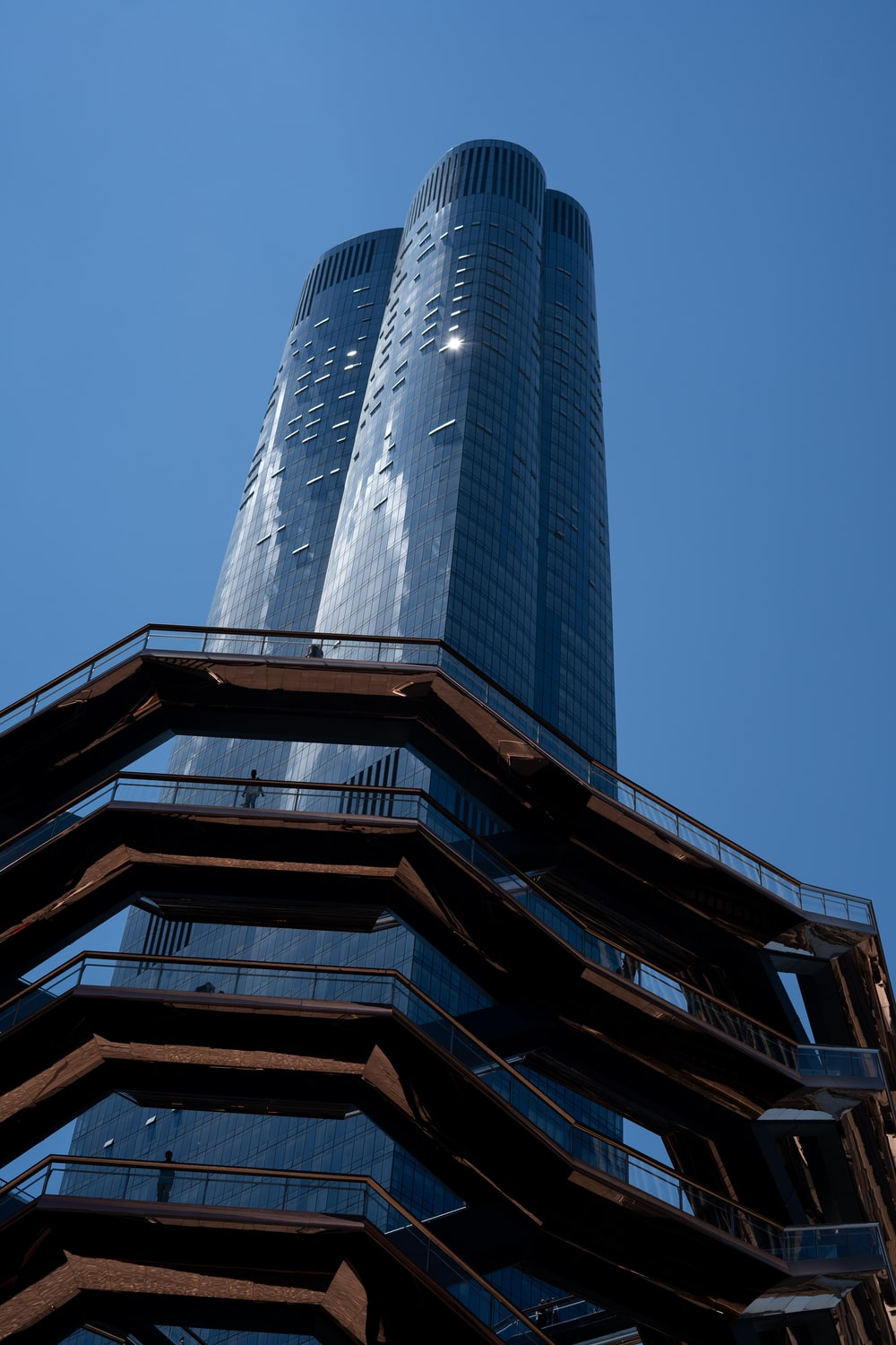 low angle photo of high rise building