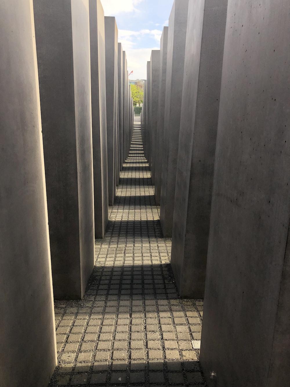 concrete hallway during daytime