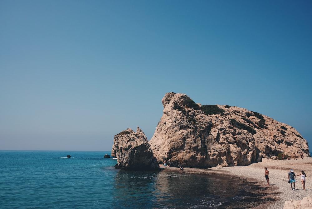 rocks near ocean