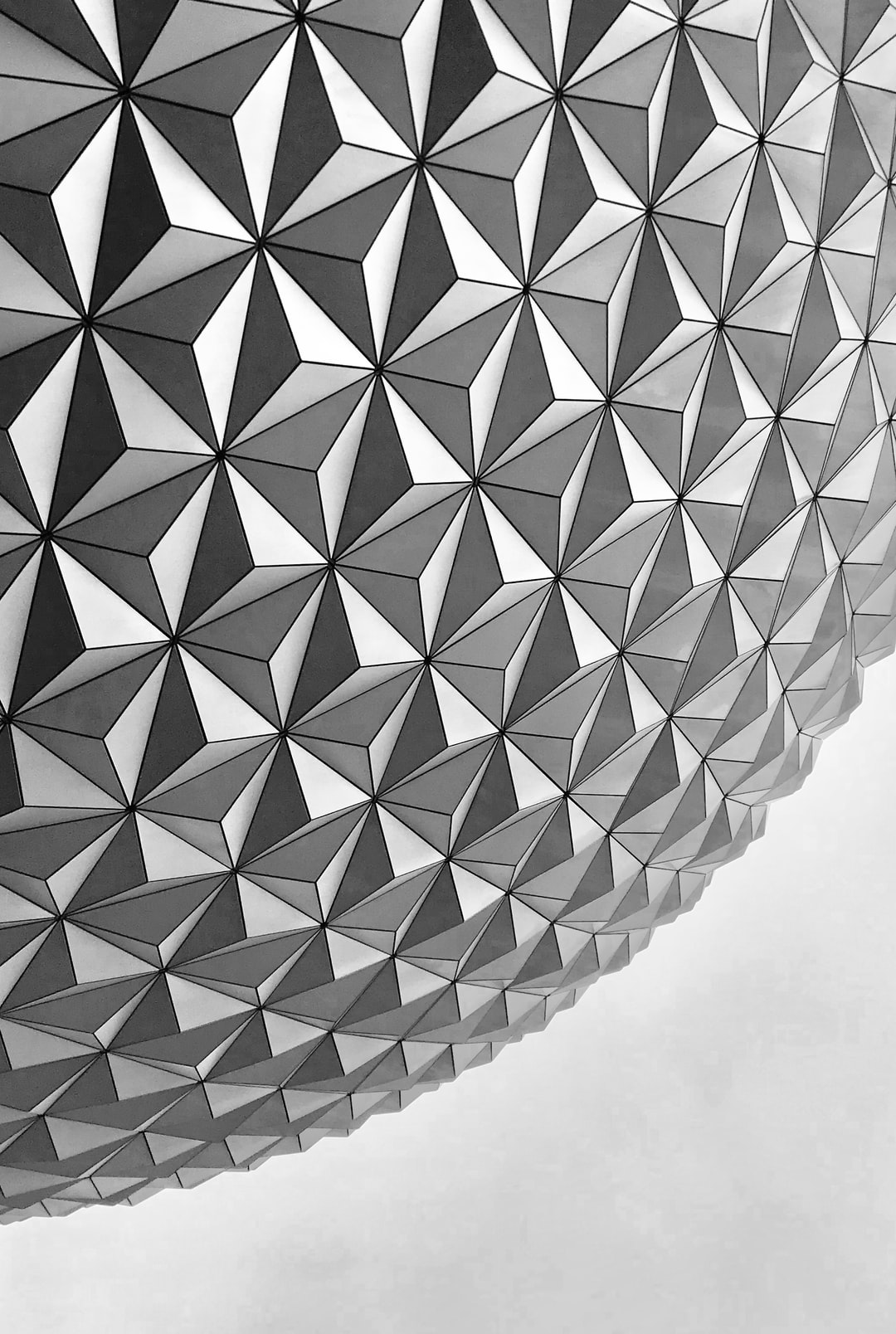 Disney's Epcot ball in the afternoon.