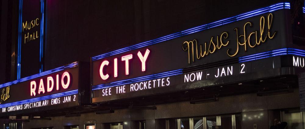 Radio City neon sign