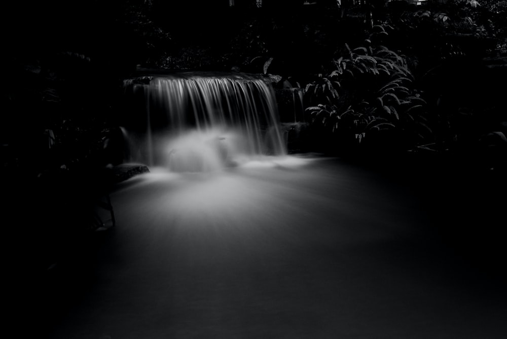 time-lapse photo of waterfall