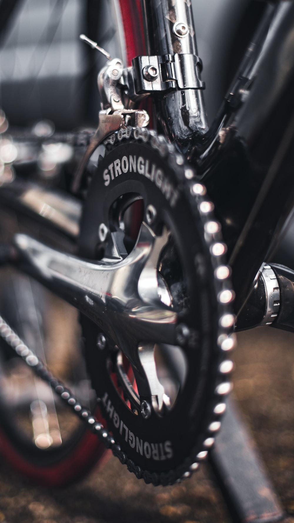 black Stronglite bicycle sprocket