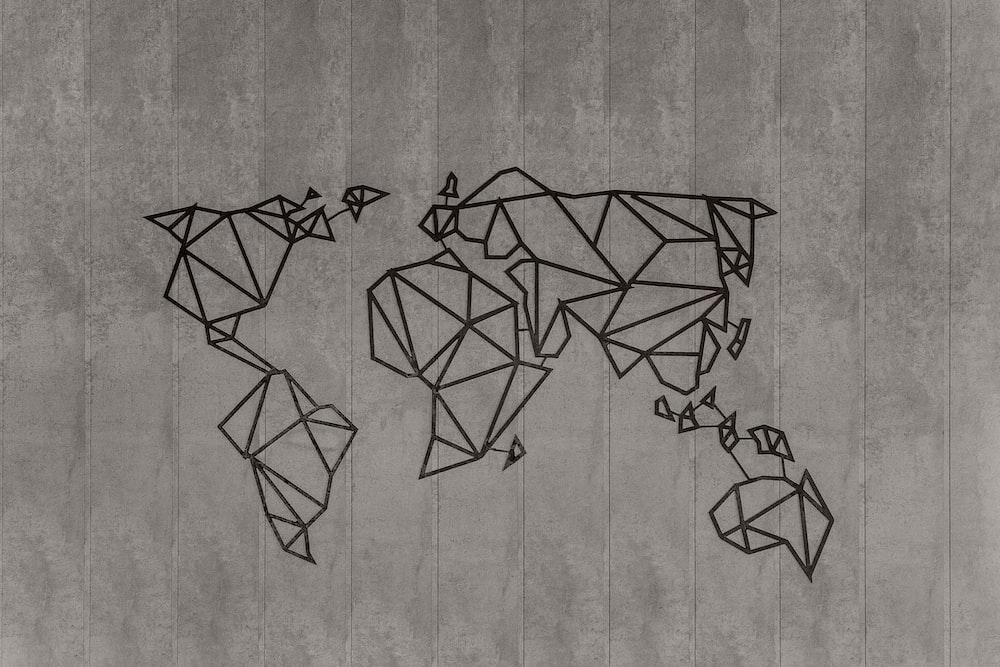 geometric map art