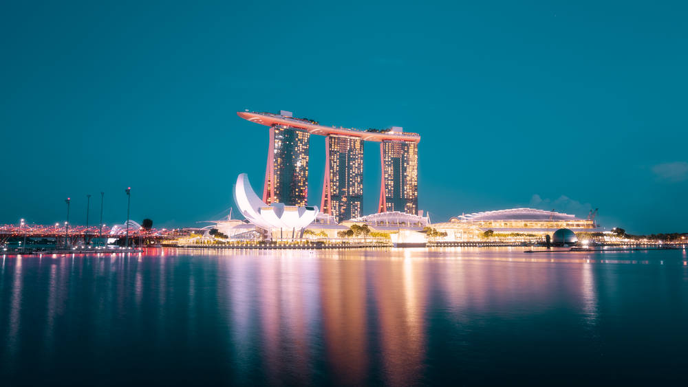 Marina Bay Sands in Singapore during night time